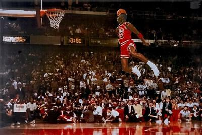 F-188 MICHAEL JORDAN Dunk From The Foul Line Hot Poster - 36 27x40in - Art Print