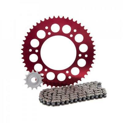 Primary Drive Alloy Kit & O-Ring Chain Red Rear Sprocket HONDA CR500R 1995-2001;
