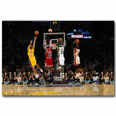 F-144 Michael Jordan Kobe Bryant James MVP Hot Poster - 36 27x40in - Art