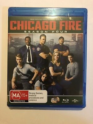 Chicago Fire Season 4 (Blu-ray, 2017, 6-Disc Set) Brand New & Sealed Rated MA15+
