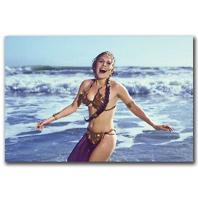 Leia Slave Outfit Star Wars Movie Carrie Fisher Art 24x36in FABRIC Poster N3489