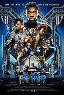 F-427 Black Panther Movie 2018 Marvel Comics Film Hot Poster 36 27x40in Print