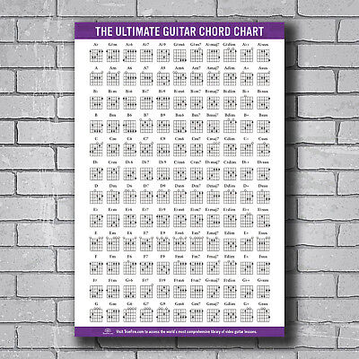 N-700 Guitar Chords Chart Key Music Graphic Exercise Hot Wall Poster Art 24x36IN