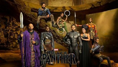 F-556 Black Panther Movie Cast 2018 Marvel Film Hot Poster 36 27x40in Art Print