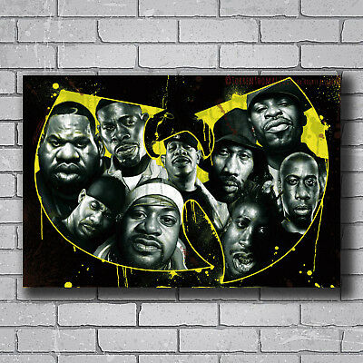 Hot Fabric Poster The Wu-Tang Clan Hip Hop Rap Music Band Stars 40x27inch Z2161