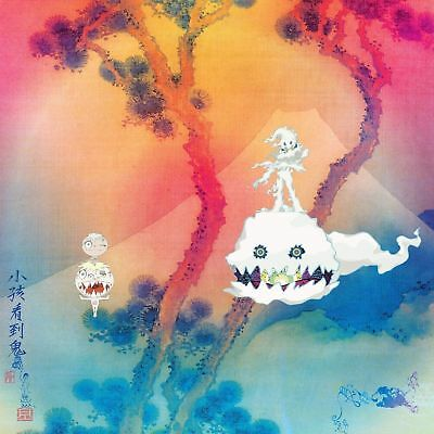 Album Cover Kids See Ghosts Kanye West Kid Cudi Fabric POSTER 14x14 24x24 N40