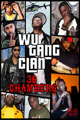 N-494 The Wu-Tang Clan RZA Hip Hop Group Music3 Fabric POSTER 20x30 24x36