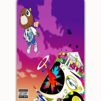 Kanye West Graduation Yezzy Rap Music Cover Art POSTER Wall Decoration X-556