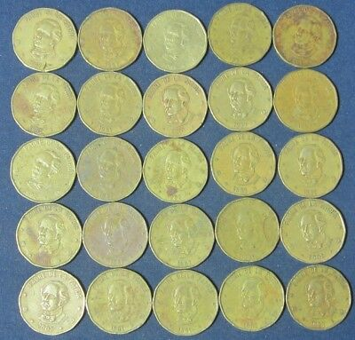 25 old Dominican Republic coins