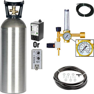 Grow Crew Hydroponics CO2 Enrichment Kit | Tank + Regulator Generator System