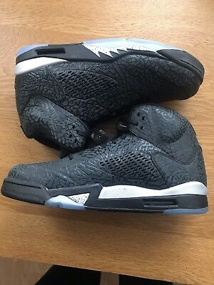 556d4bb1e63d Nike Air Jordan 5 3LAB5 BLACK METALLIC SILVER UK Size 10.5 EU 45.5 NEW