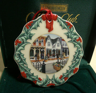 Longaberger Christmas Ornament 1998 Collector's Club in Box