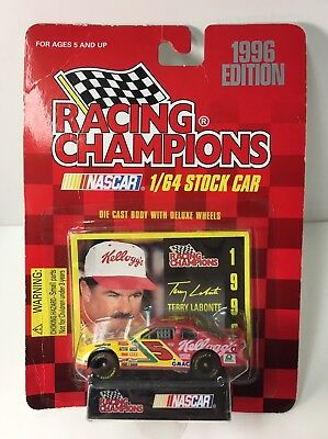 Racing Champions 1:64 Scale NASCAR #5 Terry LaBonte Race Car & Card & Stand 1996