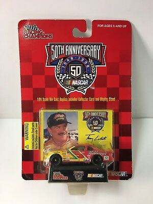 Racing Champions 1:64 Scale NASCAR #5 Terry LaBonte Race Car & Card & Stand 1998
