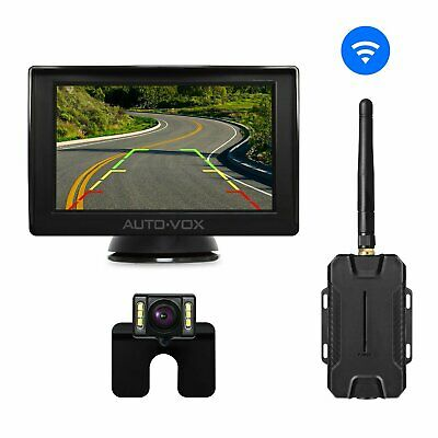 Wireless Car Rear View System 4.3'' LCD Mirror Monitor + Reverse Backup Camera