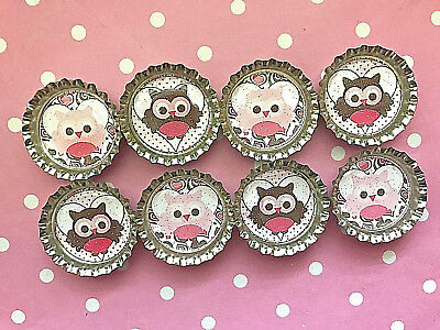 ❤️Owl Valentines Day Glitter Magnets School Exchange Party Favors Goodie Bags