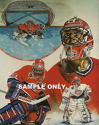 1994 PATRICK ROY LETTER SIZE PHOTO REPRINT ON GLOSSY + Free 4 X 6