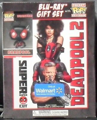 Deadpool 2 Super Duper Cut Gift Set ( Blu-ray + Digital + Pocket Pop! Keychain )