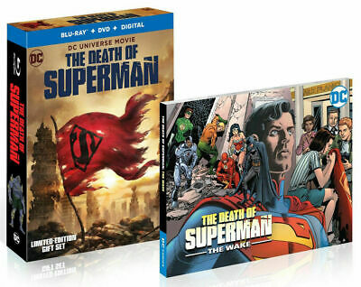 NEW The Death of Superman (Blu-ray/DVD, 2018 + DIGTAL HD & Graphic Novel) DC