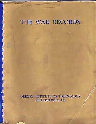 WWII Drexel Institute of Technology Honor Roll Record - NAMES IN LISTING!