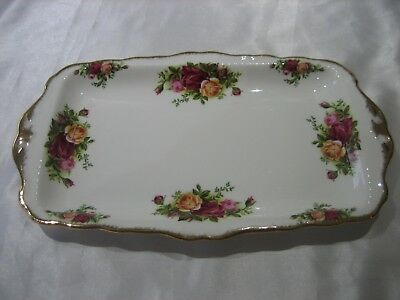Vintage 1962 Royal Albert Old Country Roses Sandwich Serving Tray