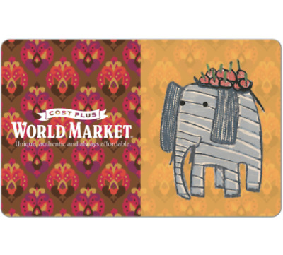 Cost Plus World Market® Gift Card - $25 $50 or $100 - Email delivery