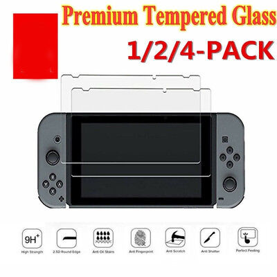 9H + Real Premium Tempered Glass Screen Protector Film For Nintendo Switch CA IL