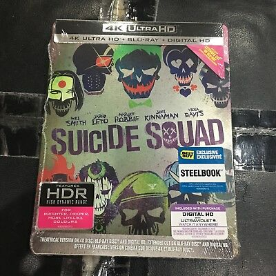 Suicide Squad Steelbook (4K UHD+Blu-ray+Digital) | Best Buy Exclusive NEW DC