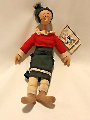 Vintage Olive Oyl~Oil ~ Doll ~ Popeye Collection 1985 ~ Vinyl~Stuffed ~ With Tag