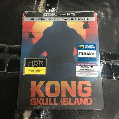 KONG Blu-ray Steelbook (4K UHD BD+2K BD+Digital) | Best Buy Exclusive NEW