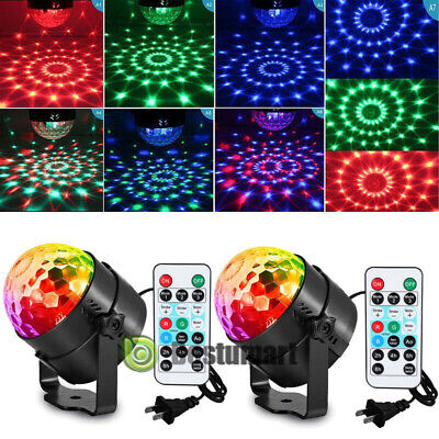 2 Pack RGB Party Disco Lights Ball Sound Activated Strobe Led DJ Bulb Dance Lamp