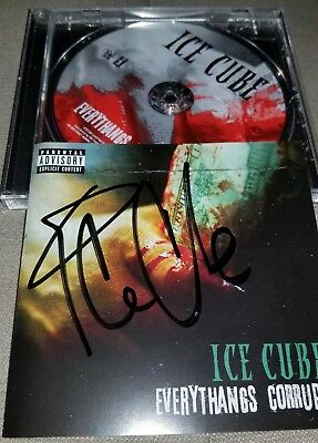 Ice Cube Signed Everythangs Corrupt Cd Autographed