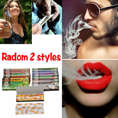 Random 2 Styles Fruit Flavored Smoking Cigarette Hemp Tobacco Rolling Papers New
