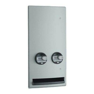 Bobrick B-47064 ClassicSeries 304 Stainless Steel Semi Recessed 50c Double Coin