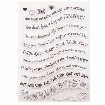 Latter Silicone Clear Seal Stamp DIY Scrapbooking Embossing Photo Album Card