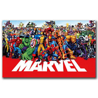 marvel line up poster 2015 Super Heroes Universe 71-marvel-superheroes Poster N2
