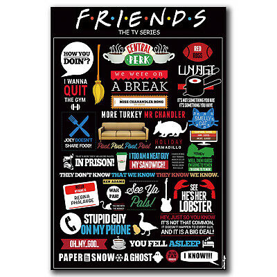 Friends USA Classic TV Series Show Art Hot 12x18 24x36in FABRIC Poster N3033