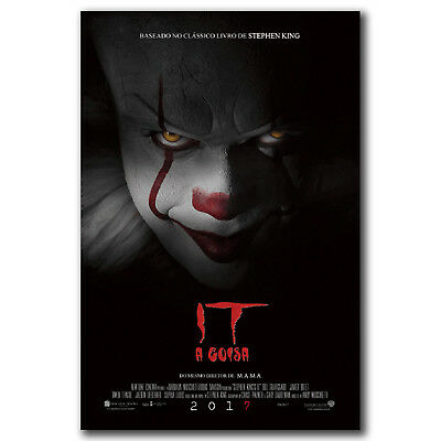 2017 IT Movie Pennywise Stephen King Horror Film Art Hot 36i FABRIC Poster N3830