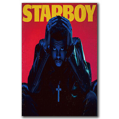 The Weeknd Starboy Hip Hop Rap Music Art Hot 12x18 24x36in FABRIC Poster N3358