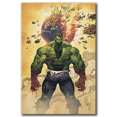 Hulk Comic Heroes Anime Art Hot 12x18 24x36in FABRIC Poster N3031