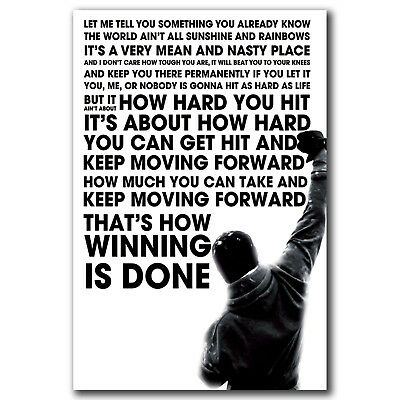 Rocky Balboa Inspirational Motivational Movie Quote 002 Art FABRIC Poster N3300