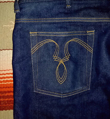SHEPLERS Mens Jeans size: 42 cut: 2542 75% cotton 25% polyester embroid pockets