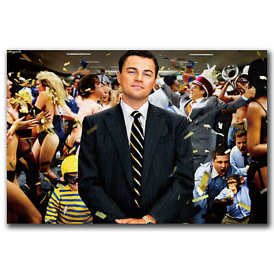 The Wolf Of Wall Street Leonardo DiCaprio Art Hot 18 24x36in FABRIC Poster N2839