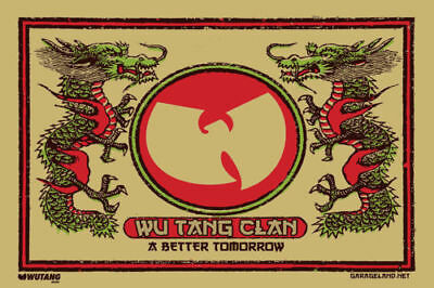 N-2891 The Wu-Tang Clan RZA Hip Hop Group Music Fabric POSTER 20x30 24x36