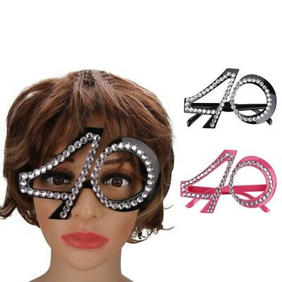 40th 50th Birthday Novelty Fun Party Clear View Sunglasses Bling Age Glasses