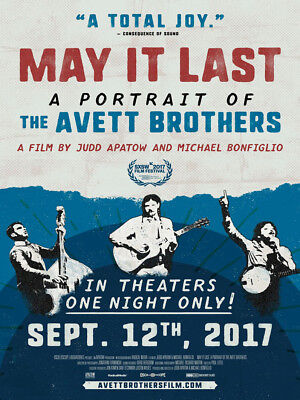 Art Poster May It Last A Portrait of the Avett Brothers Movie 27x40in Silk N071