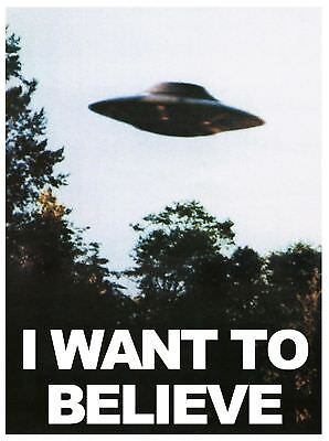 F-449 I WANT TO BELIEVE UFO Hot Poster - 36 27x40in - Art Print