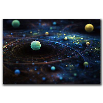 H814 The Solar System Science Galaxy Space Stars Nebula Hot Poster 36 Art Print