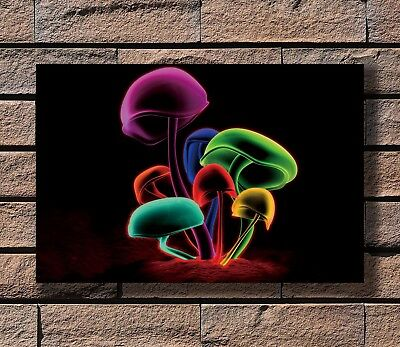 Psychedelic Trippy Magic Mushroom Abstract Print 20x30 24x36in Silk Poster KX924