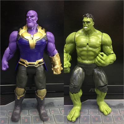 2Pcs 6'' Marvel Avengers 3 Infinity War Movable Joints Thanos Hulk Action Figure